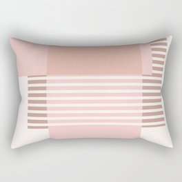 Marfa Abstract Geometric Print in Pink Rectangular Pillow