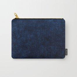 Royal Blue Velvet Texture Carry-All Pouch