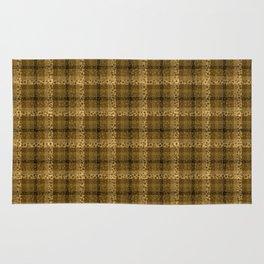 Bubbly Brown Tartan Pattern Rug