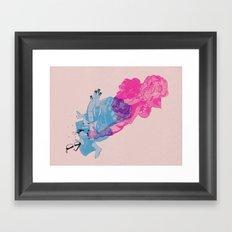Nerd /// Fight Framed Art Print