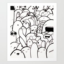 Blob Babies - Brace Face Art Print
