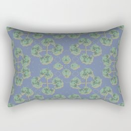Cranesbill Green Rectangular Pillow
