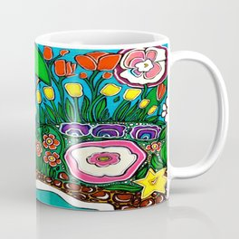 Tree in the Pond with Flowers Coffee Mug