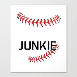 Softball Junkie Graphic Funny Sports T-shirt Canvas Print
