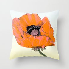 And they call it  Poppy  Love Throw Pillow