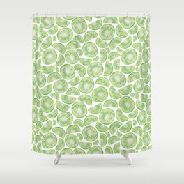 Watercolour Kiwi Fruit Shower Curtain