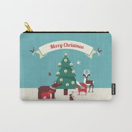 Christmas Animals and Christmas Tree Carry-All Pouch