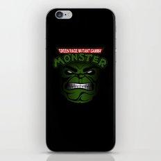 Green Rage Mutant Gamma Monster iPhone & iPod Skin