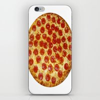 pizza iPhone & iPod Skins featuring Pizza by I Love Decor