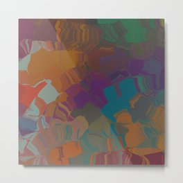 Abstract Subdued Colors Metal Print