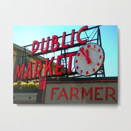 Pike Place Metal Print