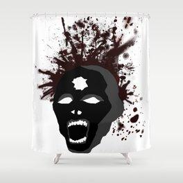 Zombie Headshot Shower Curtain