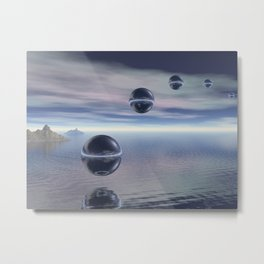 Visitors From Space Metal Print
