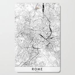 Rome White Map Cutting Board