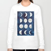 moon phases Long Sleeve T-shirts featuring Moon phases by Bridget Davidson