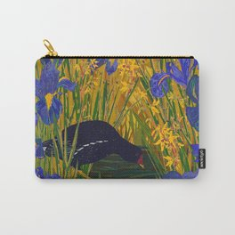 Iris and Moorhen Carry-All Pouch