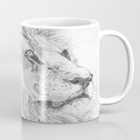leon Mugs featuring Leon by Amy Lawlor Creations