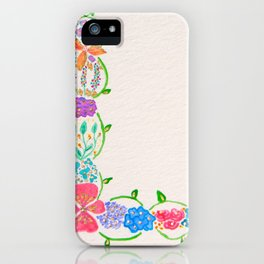 Flowered Letter L iPhone Case