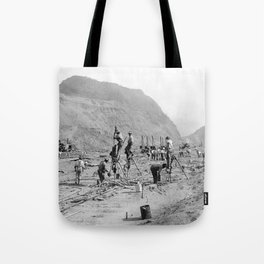 Panama Canal construction Tote Bag