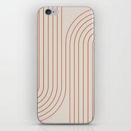Minimal Line Curvature - Coral II iPhone Skin