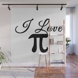 I Love Pi Calligraphy Wall Mural