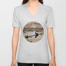 Bird Fishing Unisex V-Neck