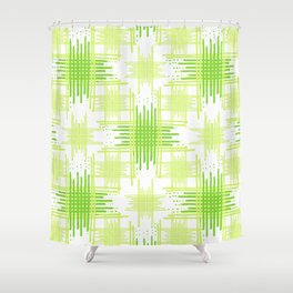 Intersecting Lines Pattern Design Shower Curtain