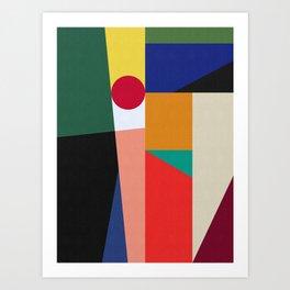 Geometric Art X Art Print