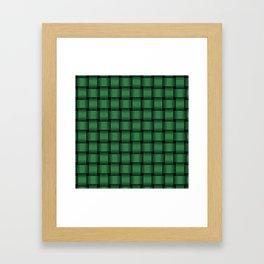 Dark Green Weave Framed Art Print
