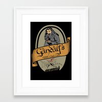 middle earth Framed Art Prints featuring Gandalf's Middle earth tour by SuperEdu