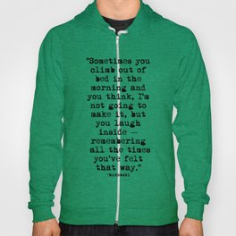 Charles Bukowski Typewriter Quote Morning Hoody