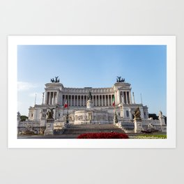 Altare della Patria at early morning - Rome, Italy Art Print