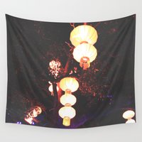 lanterns Wall Tapestries featuring Lanterns by Kaartik Gupta