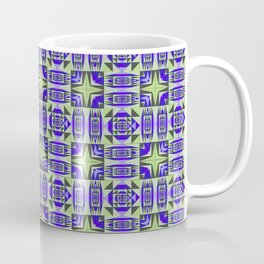 Digital Geometric Quilt Design Coffee Mug