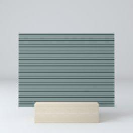 Night Watch PPG1145-7 Horizontal Stripes Pattern 3 on Scarborough Green PPG1145-5 Mini Art Print