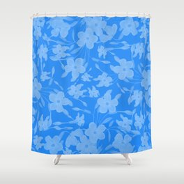 Forget-Me-Not Flowers in Blue Shower Curtain