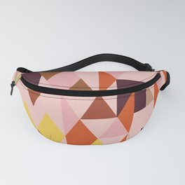 Vintage triangles vibe Fanny Pack