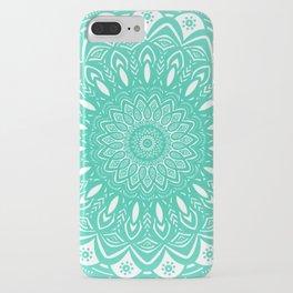 Minimal Aqua Seafoam Mint Green Mandala Simple Minimalistic iPhone Case