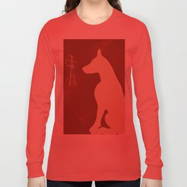 Doberman Dog Long Sleeve T-shirt