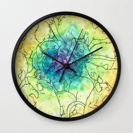 Peace Love & Chubs Wall Clock
