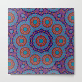 Mosaic Mandala Metal Print
