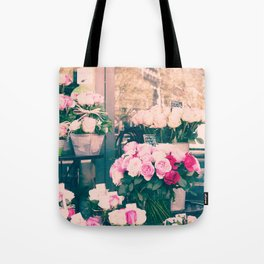 Paris flower market Tote Bag