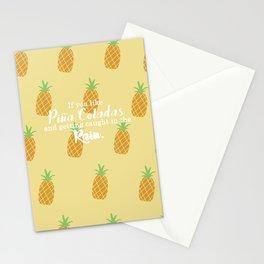 Piña Colada Song Stationery Cards
