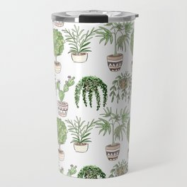 Watercolor . Plants . Travel Mug