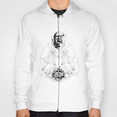Two Horses, Tim and Eric (B&W) Hoody