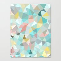 pastel Canvas Prints featuring Pastel Tris by Beth Thompson