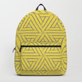 Aztec Tribal Triangle Pattern V1 Pantone 2021 Color Of The Year Illuminating and Ultimate Gray  Backpack