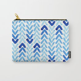 Blue Watercolour Arrows Carry-All Pouch
