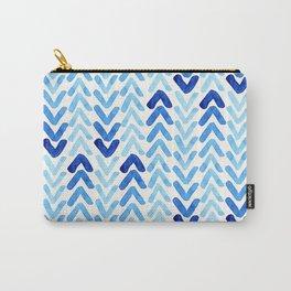 Blue Watercolour Arrows Carry-All Pouch