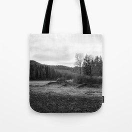 Fish Lake BW - Oregon Tote Bag